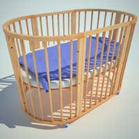 3d bed child children model
