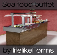 Seafood buffet table