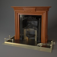 fireplace stovax 3d max