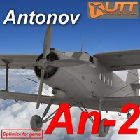 3d antonov bureau an-2 model