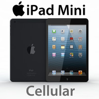 iPad Mini Cellular 3G 4G Realistic