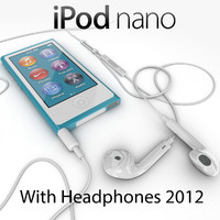 Apple iPod nano 2012 with headphones