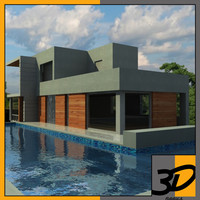 contemporary house 3d max