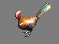 chicken rooster bird 3d max