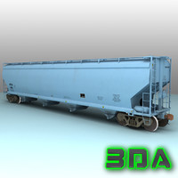 Railroad covered hopper C214 BFGX