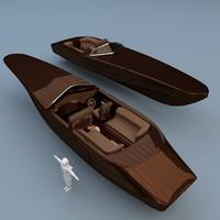boat 3d blend