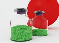 pea seeds glass 3d obj
