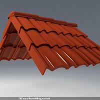 3d model roof 01