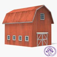 3d max wooden barn