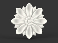 3ds max flower carved
