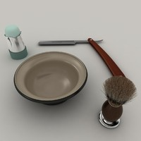 3d model of barber set