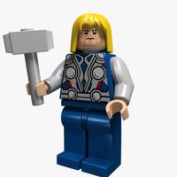 3d lego character model