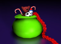 cinema4d christmas sack