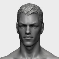 zbrush superheroes head 3d model