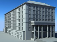 administrative building classic style 3d model