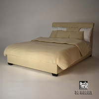 baker paris bed 3d ma