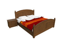 wooden bed max