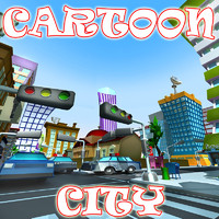 cartoon city 3d max