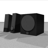 computer speakers c4d
