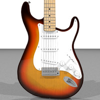 guitar electric fender c4d