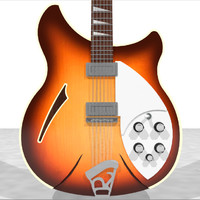 Rickenbacker 12 String Guitar: C4D Model