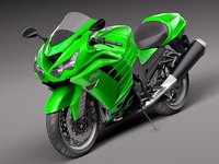 3d model of kawasaki zx14r r sport