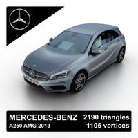 3d 2013 mercedes-benz a250 amg model