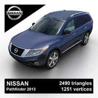 3d model 2013 nissan pathfinder suv