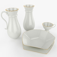 3d set porcelain