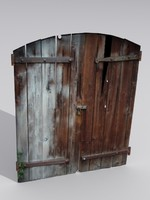 3ds max wooden door