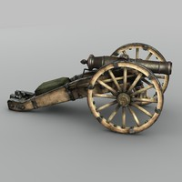 19th century russian cannon 3d max