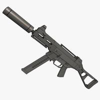 3d ump 45 pistol gun