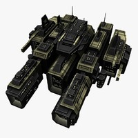 upgraded ship battleship destroyers 3d model
