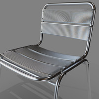 3d model realistic aluminum chair