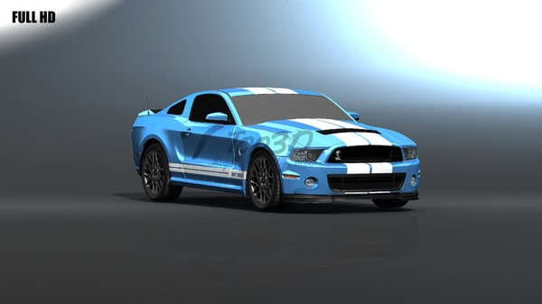 obj gt500 shelby muscle - gt_500... by too3D
