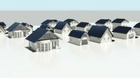 3d model of houses development