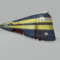 3d model speed giant train