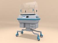 infant incubator 3d max