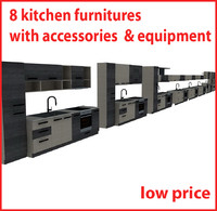 kitchen furnitures 3d dwg