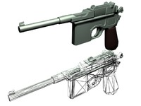 maya mauser pistol gun