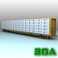 3d model f483 centerbeam rails ttx