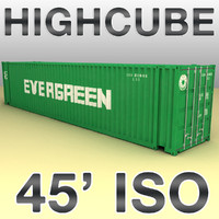 3ds max 45 feet highcube container cargo