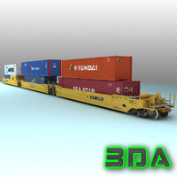 s635 car rails containers 3d max