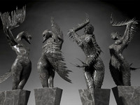 Black Swans statue