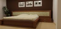 3d c4d realistic bed