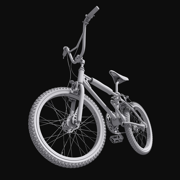 kuwahara bmx cycle bicycle 3d max - Kuwahara BMX bicycle... by cyberworlduser
