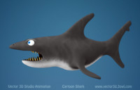 shark cartoon 3d c4d