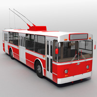 bus trolleybus trolley obj