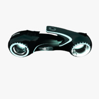 tron light bike 3d model