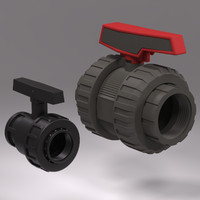 3d model plastic valves
